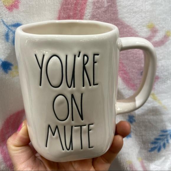 rae dunn you re on mute mug
